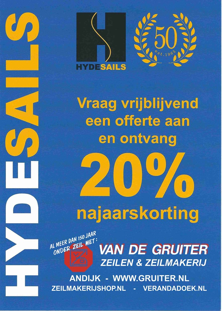 2015-020 Hyde Sails - 20% korting